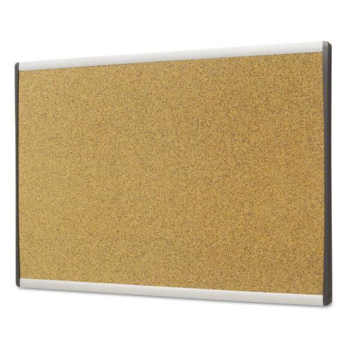 ARC Frame Cork Cubicle Board, 18 x 30, Tan, Aluminum Frame. Picture 2