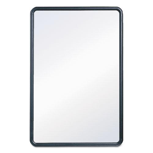 Contour Dry-Erase Board, Melamine, 24 x 18, White Surface, Black Frame. Picture 3