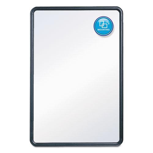 Contour Dry-Erase Board, Melamine, 24 x 18, White Surface, Black Frame. Picture 2