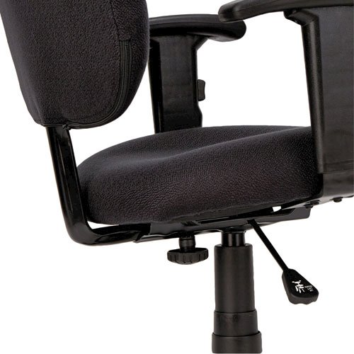 Alera Essentia Series Swivel Task Chair with Adjustable Arms, Supports up to 275 lbs, Black Seat/Black Back, Black Base. Picture 13