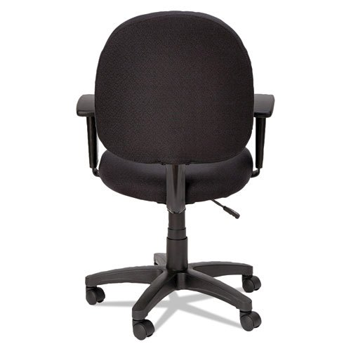 Alera Essentia Series Swivel Task Chair with Adjustable Arms, Supports up to 275 lbs, Black Seat/Black Back, Black Base. Picture 8