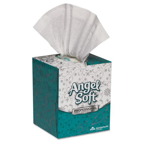 Premium Facial Tissue in Cube Box, 2-Ply, White, 96 Sheets/Box, 36 Boxes/Carton. Picture 1