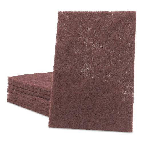 General Purpose Hand Pad, 6 x 9, Maroon, 20 BX, 3 BX/CT. Picture 1