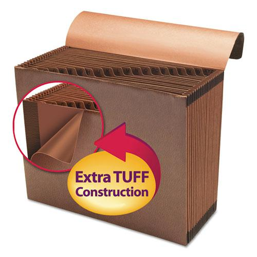 TUFF Expanding Files, 21 Sections, 1/21-Cut Tab, Letter Size, Redrope. Picture 4