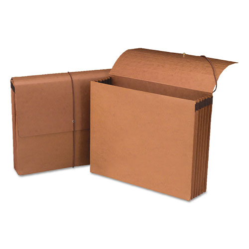 """100% Recycled Redrope Wallets, 5.25"""" Expansion, 1 Section, Letter Size, Redrope, 10/Box. Picture 1"""