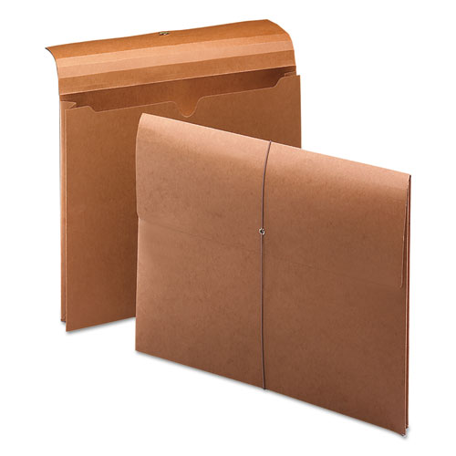 """Expanding Wallet w/ Elastic Cord, 2"""" Expansion, 1 Section, Letter Size, Redrope. Picture 1"""