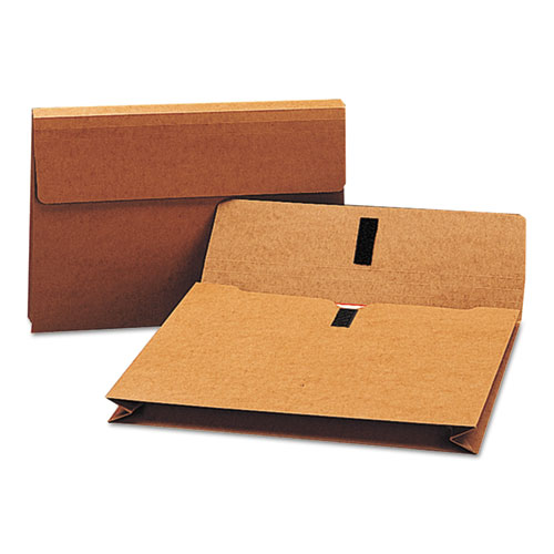 """Expanding Wallet w/ Hook and Loop Closure, 2"""" Expansion, 1 Section, Legal Size, Redrope. Picture 1"""