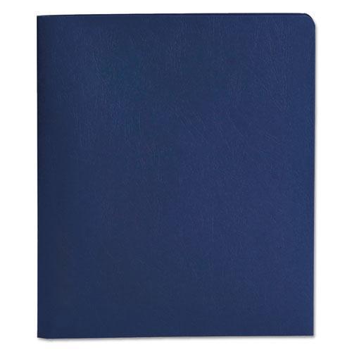 "2-Pocket Folder w/Tang Fastener, Letter, 1/2"" Cap, Dark Blue, 25/Box. Picture 2"