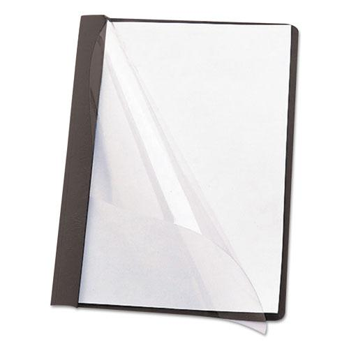"""Poly Report Cover, Tang Clip, Letter, 1/2"""" Capacity, Clear/Black, 25/Box. Picture 5"""