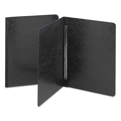 Side Opening Press Guard Report Cover, Prong Fastener, Letter, Black. Picture 1