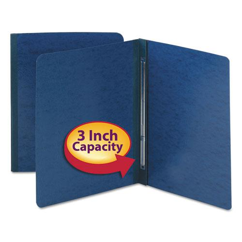 Side Opening Press Guard Report Cover, Prong Fastener, Letter, Dark Blue. Picture 2