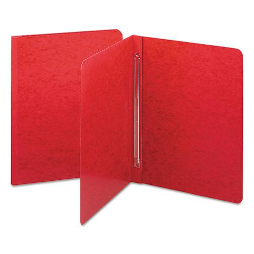 Side Opening Press Guard Report Cover, Prong Fastener, Letter, Bright Red. Picture 1