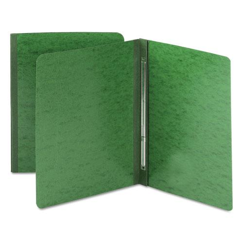 Side Opening Press Guard Report Cover, Prong Fastener, Letter, Green. Picture 1