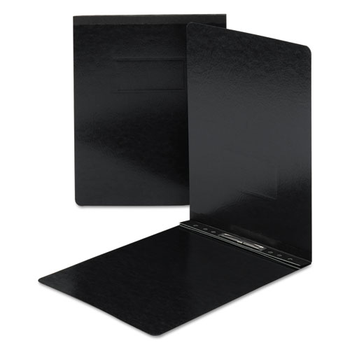 Top Opening Press Guard Report Cover, Prong Fastener, Letter, Black. Picture 1