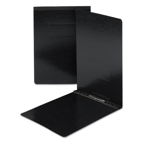 Top Opening Press Guard Report Cover, Prong Fastener, 11 x 17, Black. Picture 1