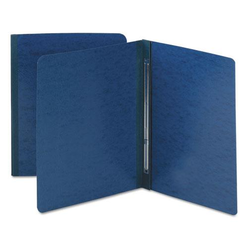 Side Opening Press Guard Report Cover, Prong Fastener, Letter, Dark Blue. Picture 1