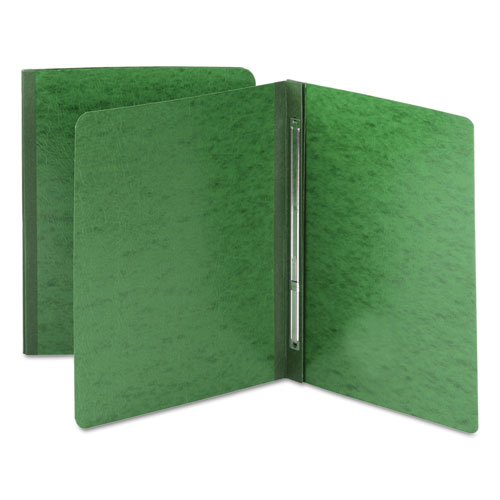 Side Opening Pressboard Report Cover, Prong Fastener, Letter, Green. Picture 1