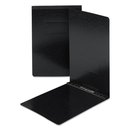 Top Opening Press Guard Report Cover, Prong Fastener, Legal, Black. Picture 1