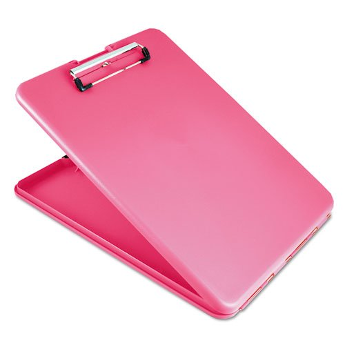 """SlimMate Storage Clipboard, 1/2"""" Clip Capacity, Holds 8 1/2 x 11 Sheets, Pink. Picture 1"""