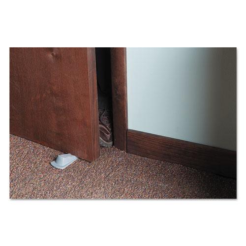 Big Foot Doorstop, No Slip Rubber Wedge, 2.25w x 4.75d x 1.25h, Gray, 2/Pack. Picture 3