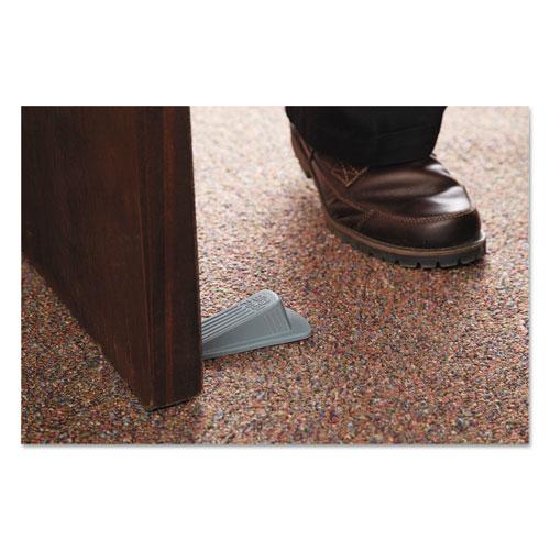 Big Foot Doorstop, No Slip Rubber Wedge, 2.25w x 4.75d x 1.25h, Gray, 2/Pack. Picture 2