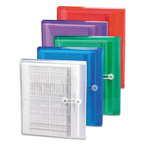 Poly String and Button Interoffice Envelopes, String and Button Closure, 9.75 x 11.63, Clear, 5/Pack. Picture 3