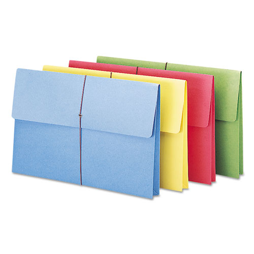 """Expanding Wallet w/ Elastic Cord, 2"""" Expansion, 1 Section, Legal Size, Assorted, 50/Box. Picture 2"""