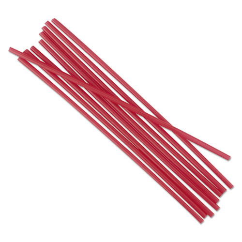 """Single-Tube Stir-Straws, 5 1/4"""", Red, 1000/Pack. Picture 2"""