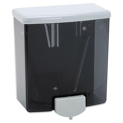 ClassicSeries Surface-Mounted Liquid Soap Dispenser, 40 oz, 5.81 x 3.31 x 6.88, Black/Gray. Picture 1