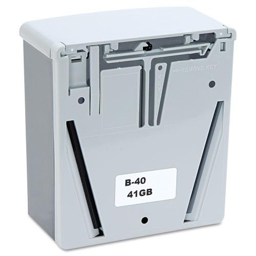ClassicSeries Surface-Mounted Liquid Soap Dispenser, 40 oz, 5.81 x 3.31 x 6.88, Black/Gray. Picture 2