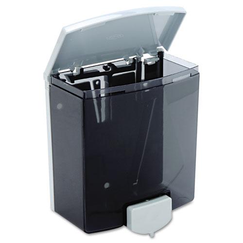 ClassicSeries Surface-Mounted Liquid Soap Dispenser, 40 oz, 5.81 x 3.31 x 6.88, Black/Gray. Picture 3