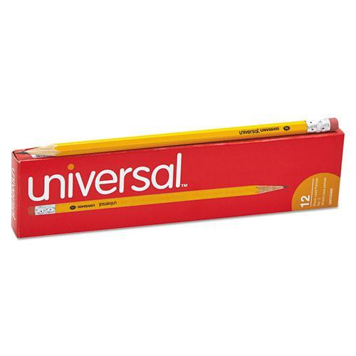#2 Woodcase Pencil, HB (#2), Black Lead, Yellow Barrel, Dozen. Picture 5