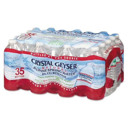 Natural Alpine Spring Water, 16.9 oz Bottle, 35/Carton