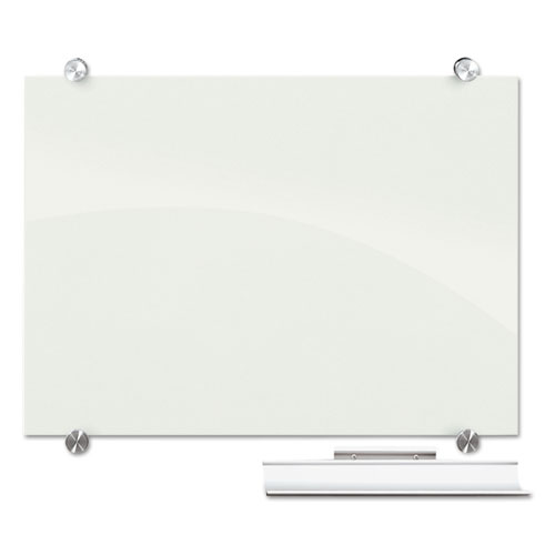 Visionary Magnetic Glass Board, Frameless, White Glossy ...
