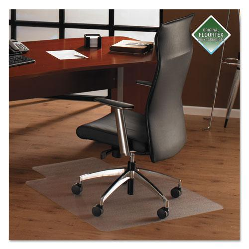 "Cleartex Ultimat Chair Mat, Rectangular With Lip, Clear Polycarbonate, For Hard Floor, Size 35"" x 47"". Picture 1"