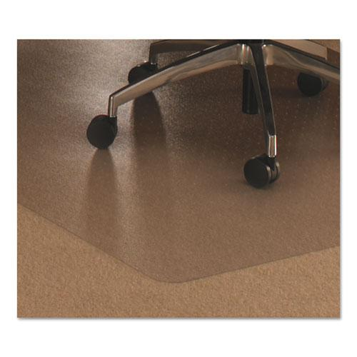 """Cleartex Ultimat Chair Mat, Clear Polycarbonate, For Low & Medium Pile Carpets (up to 1/2""""), Rectangular with Lip, Size 48"""" x 53"""". Picture 1"""