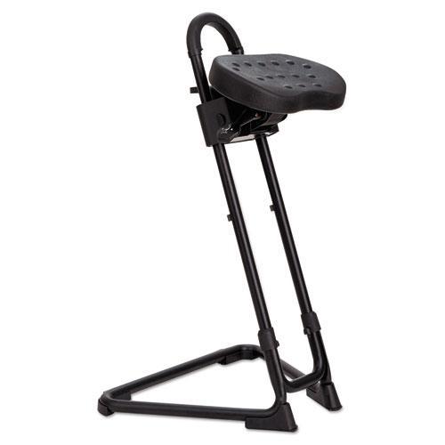 Alera SS Series Sit/Stand Adjustable Stool, Black/Black, Black Base. Picture 1