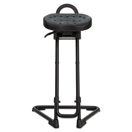 Alera SS Series Sit/Stand Adjustable Stool, Black/Black, Black Base. Picture 3