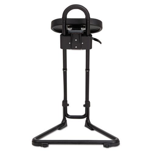 Alera SS Series Sit/Stand Adjustable Stool, Black/Black, Black Base. Picture 4