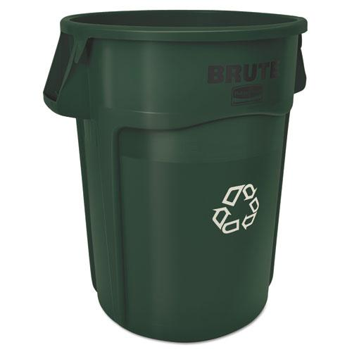 Brute Recycling Container, Round, 44 gal, Dark Green. Picture 1
