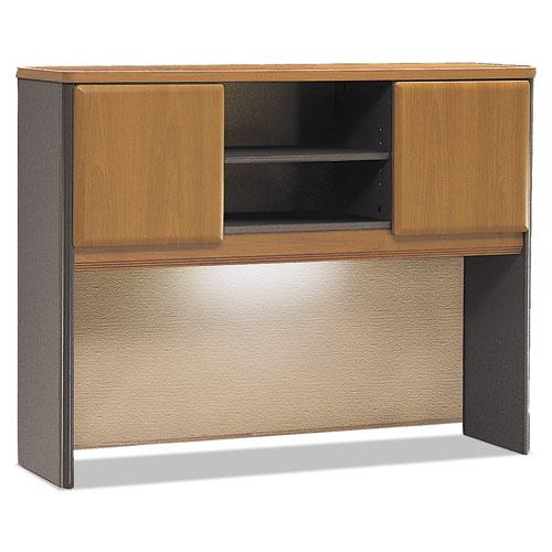 Bush Business Furniture Series A 48W Hutch, Natural Cherry/Slate. The main picture.