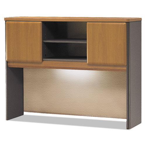 Bush Business Furniture Series A 48W Hutch, Natural Cherry/Slate. Picture 2