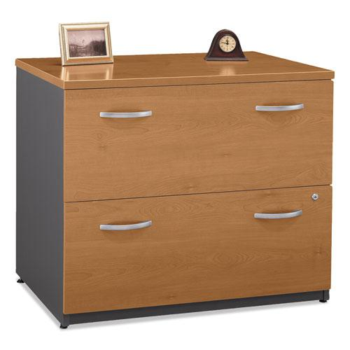 Series C Collection 2 Drawer 36W Lateral File (Assembled), 35.75w x 23.38d x 29.88h, Natural Cherry. Picture 1