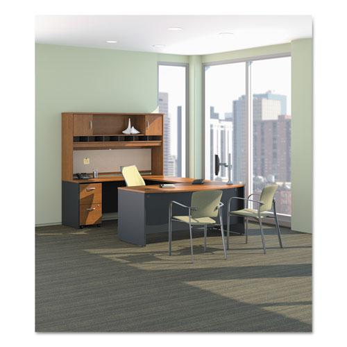 """Series C Collection Desk Shell, 66"""" x 29.38"""" x 29.88"""", Natural Cherry/Graphite Gray. Picture 2"""
