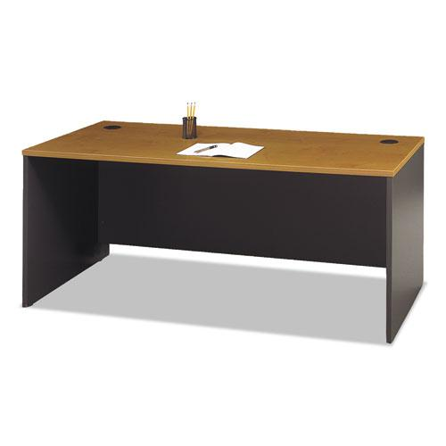 """Series C Collection Desk Shell, 71.13"""" x 29.38"""" x 29.88"""", Natural Cherry/Graphite Gray. Picture 1"""
