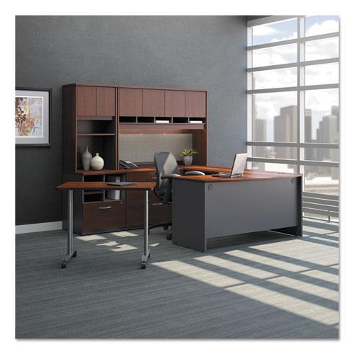 "Series C Collection Desk Shell, 66"" x 29.38"" x 29.88"", Hansen Cherry/Graphite Gray. Picture 2"