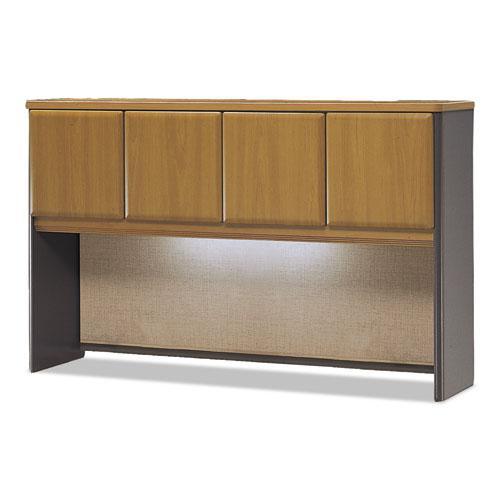 Bush Business Furniture Series A 60W Hutch, Natural Cherry/Slate. Picture 1