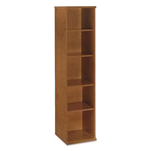 Series C Collection 18W 5 Shelf Bookcase, Natural Cherry. Picture 1