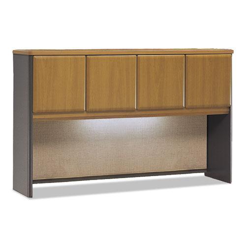 Bush Business Furniture Series A 60W Hutch, Natural Cherry/Slate. Picture 2