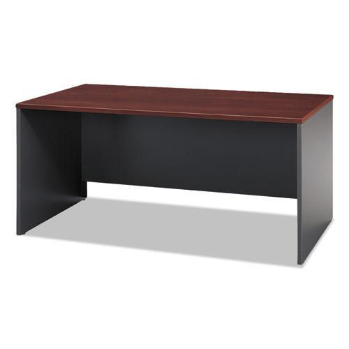 "Series C Collection Desk Shell, 66"" x 29.38"" x 29.88"", Hansen Cherry/Graphite Gray. Picture 1"